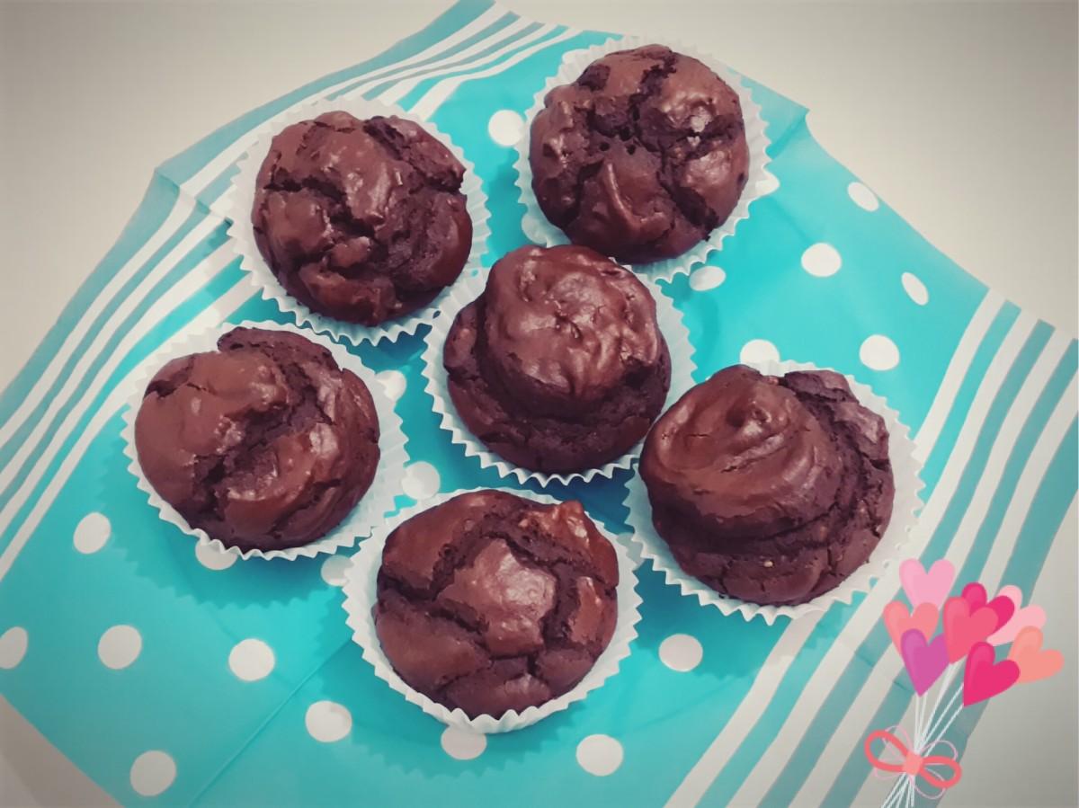 Muffin senza glutine al cacao e nocciole