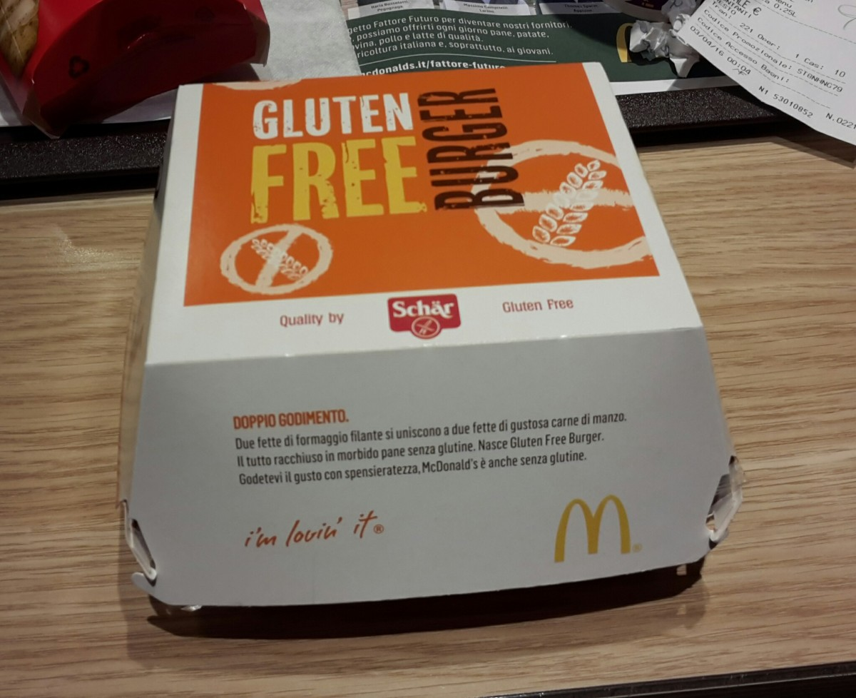 Il mio primo Mc Burger Gluten Free